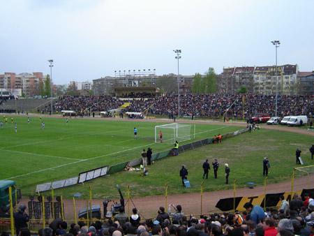 централната трибуна на стадион Христо Ботев в Пловдив
